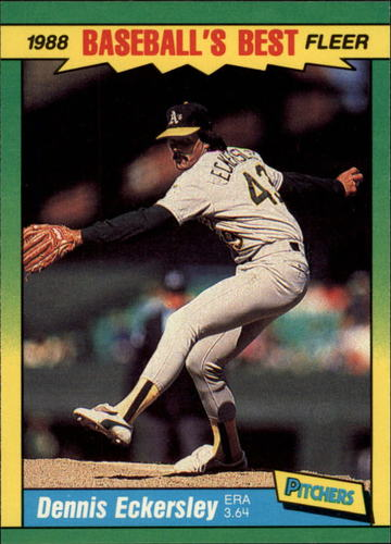 Photo of 1988 Fleer Sluggers/Pitchers #13 Dennis Eckersley