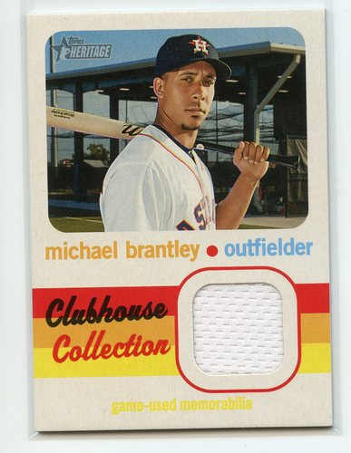 Photo of 2020 Topps Heritage Clubhouse Collection Relics #CCRMBR Michael Brantley