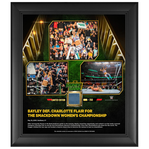 Photo of Money In The Bank 2019 Bayley Limited Edition 15x17 Plaque (#1 of 250)