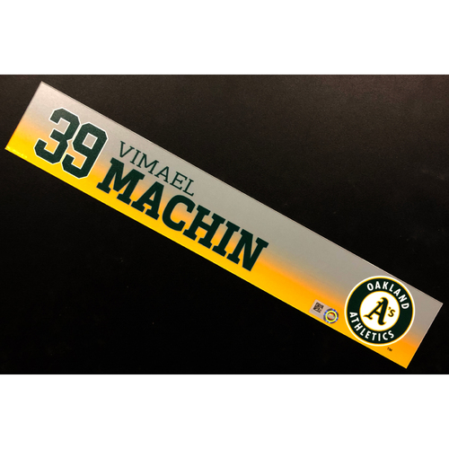 Photo of Game-Used 2020 Spring Training Locker Nameplate - Vimael Machin