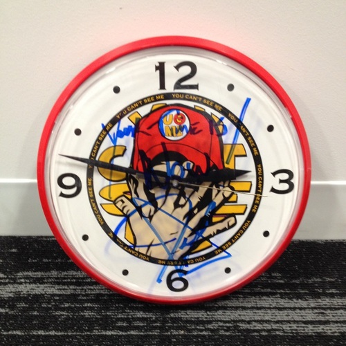 John Cena SIGNED Wall Clock