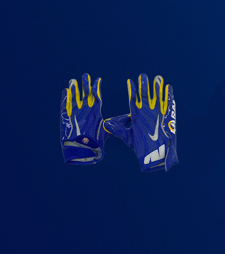 Tyler Higbee Game Used Gloves - (11/1/2020 VS. Miami Dolphins)