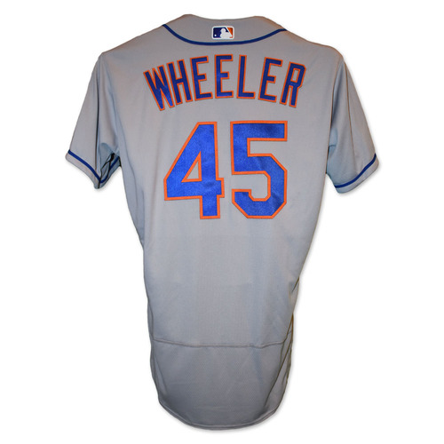 Photo of Zack Wheeler #45 - Team Issued Road Grey Jersey - 2019 Season