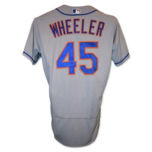 Zack Wheeler #45 - Team Issued Road Grey Jersey - 2019 Season