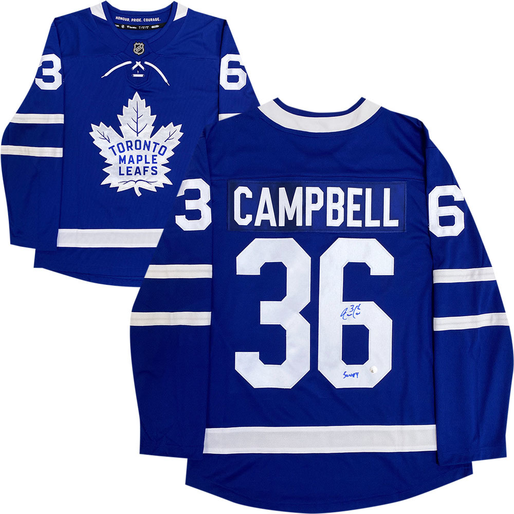 Jack Campbell Autographed Toronto Maple Leafs Fanatics Jersey w/SOUPY Inscription