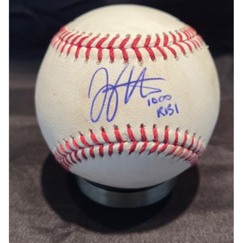 Photo of Joey Votto *Game-Used, Autographed & Inscribed* Baseball from 1,000th Career RBI Game - Vladimir Gutierrez to Fernando Tatis Jr (Foul) -- 06/30/2021 - SD vs. CIN - Top 1