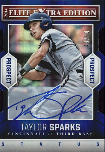 Photo of 2014 Elite Extra Edition Prospects Signatures Status Blue #38 Taylor Sparks