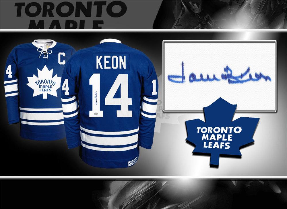 Dave David Keon Toronto Maple Leafs CCM Vintage Autographed Jersey