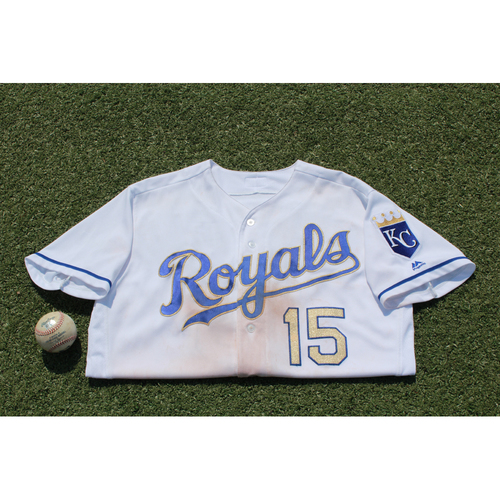 wholesale dealer da1cd e99dd MLB Auctions | Game-Used Whit Merrifield Jersey and Game ...