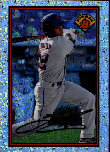 Photo of 2014 Bowman '89 Bowman is Back Silver Diamond Refractors Francisco Lindor