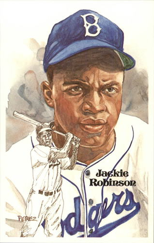Photo of 1980-02 Perez-Steele Hall of Fame Postcards #89 Jackie Robinson -- HOF Class of 1962