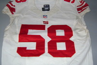 NFL INTERNATIONAL SERIES - GIANTS OWAMAGBE ODIGHIZUWA GAME WORN GIANTS JERSEY (OCTOBER 23, 2016)