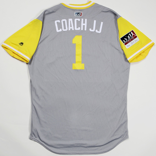 "Photo of Josh ""Coach JJ"" Johnson San Diego Padres Team-Issued 2018 Players' Weekend Jersey"