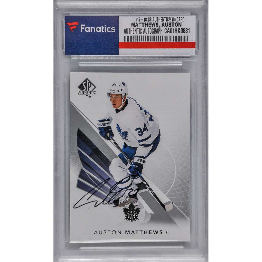 Auston Matthews Toronto Maple Leafs Autographed 2017-18 SP Authentic #10 Card