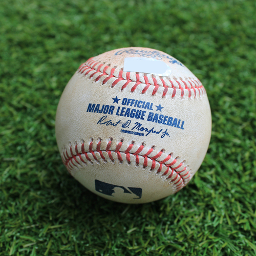 Photo of Game-Used Baseball: Mitch Garver 92nd Career Hit and 50th Career RBI (MIN @ KC - 4/3/19)