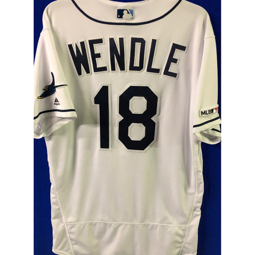 Photo of 2019 Opening Day Game Used Jersey: Joey Wendle - March 28, 29 v HOU