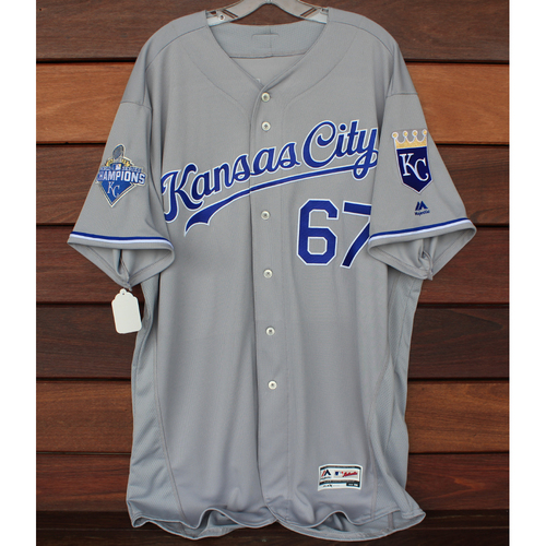 Photo of Autographed Gray World Series Jersey: Chien-Ming Wang (Size 50)