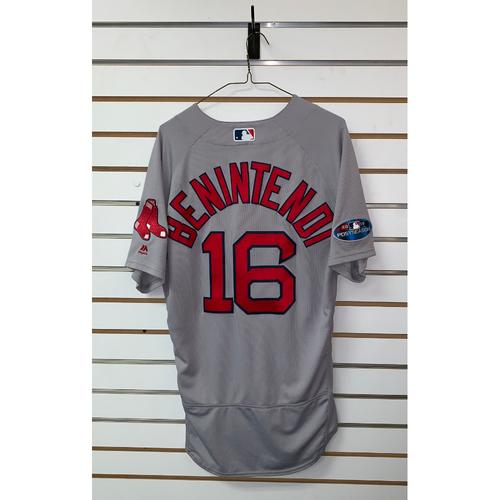 quality design b5bb2 da512 Red Sox Auctions | Andrew Benintendi team issued 2018 ...