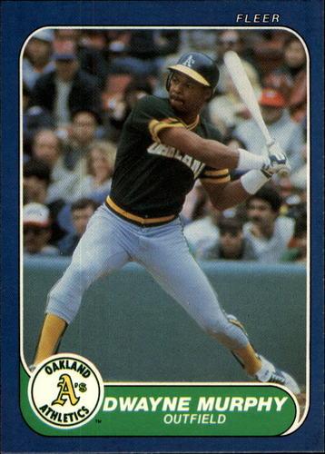 Photo of 1986 Fleer #428 Dwayne Murphy