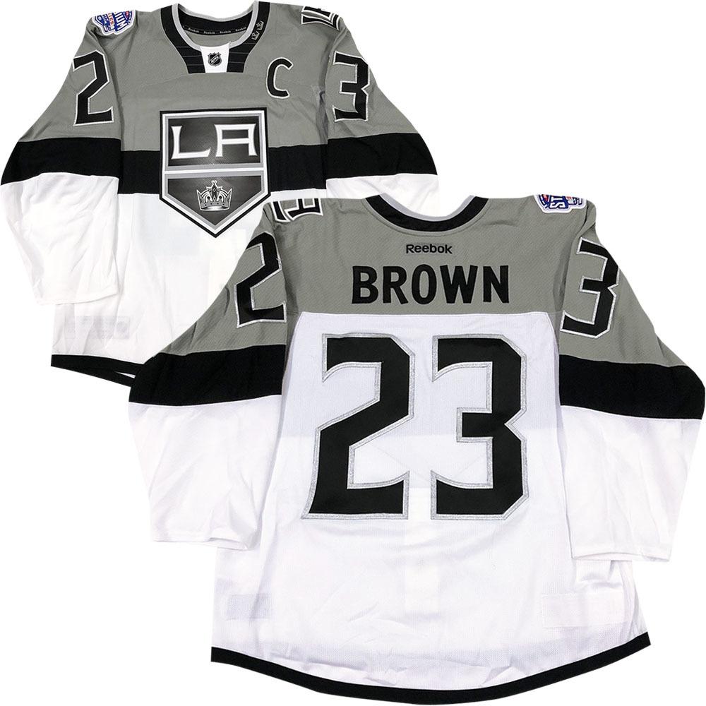 Dustin Brown Los Angeles Kings 2015 NHL Stadium Series Worn Jersey