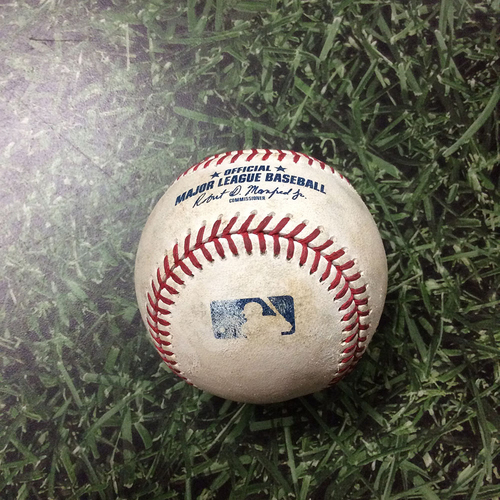 Photo of Game-Used Baseball CIN@MIL 07/24/19 - Lucas Sims - Keston Hiura: Solo Homerun (Career HR #10)
