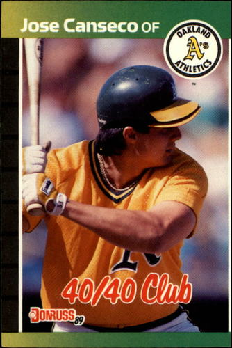 Photo of 1989 Donruss #643 Jose Canseco/40-40 Club