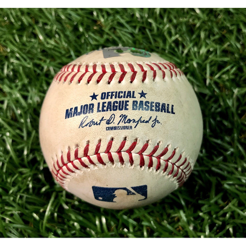 Photo of Game Used Baseball: Austin Meadows single off Paul Fry and Tommy Pham foul ball off Mychal Givens - Game 1 of DH - September 3, 2019 v BAL