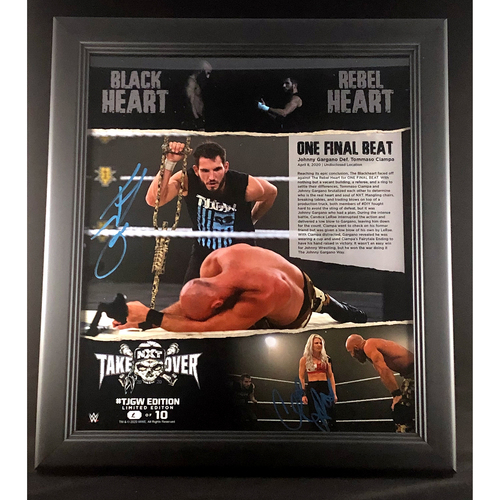 Photo of Johnny Gargano and Candice LaRae SIGNED One Final Beat #TJGW Edition (Random Number)