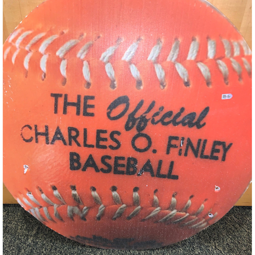 Photo of Oakland A's Community Fund: Official Charles O' Finley Orange Baseball Coliseum Cutout