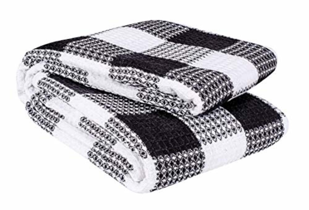 Photo of 100% Soft Cotton Chevron Throw Blankets (Set of 2)-Throws and Blankets for Sofa-Super Soft Cotton Throw Blanket- Couch Blanket-50?x60? Indoor-Outdoor Throw Blanket, Chocolate Throw Blankets