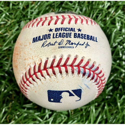 Game Used Baseball: Kevan Smith 2RBI Single off Albert Abreu (MLB Debut) - First 7-Inning DH at Tropicana Field - Game 2 - August 8, 2020 v NYY
