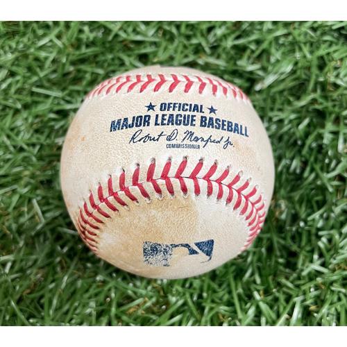 Photo of Game Used ALDS Baseball: Nelson Cruz single off Hansel Robles - Bottom 8 - October 8, 2021 v BOS