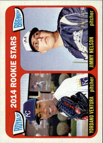 Photo of 2014 Topps Heritage #386 Yordano Ventura RC/Jimmy Nelson RC