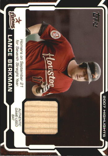 Photo of 2008 Topps Highlights Relics #LB Lance Berkman C