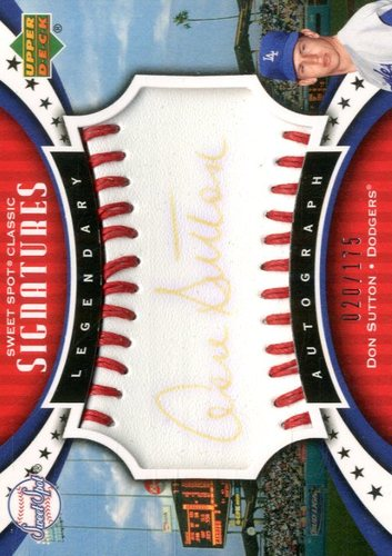 Photo of 2007 Sweet Spot Classic Signatures Red Stitch Black Ink #SD Shawon Dunston/175
