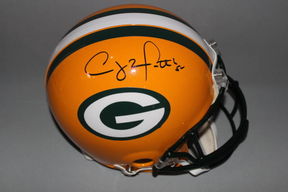 NFL - PACKERS CLAY MATTHEWS SIGNED PACKERS PROLINE HELMET