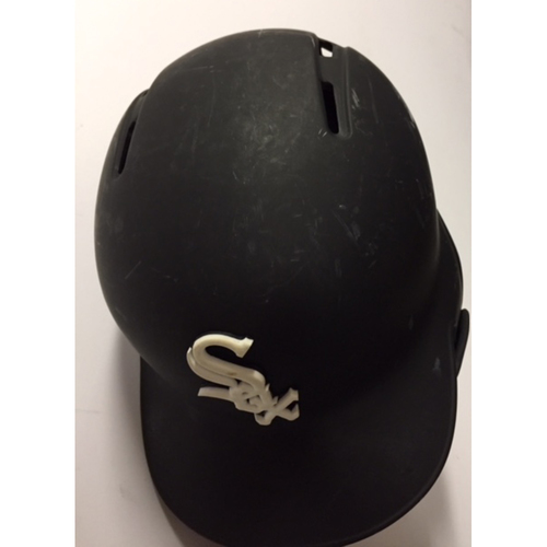 Photo of Yoan Moncada Team-Issued Black Matte Helmet