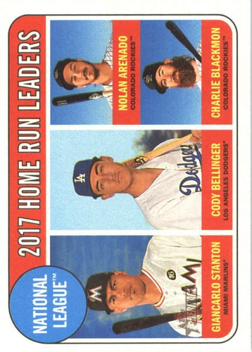 Photo of 2018 Topps Heritage #6 Charlie Blackmon/Nolan Arenado/Cody Bellinger/Giancarlo Stanton LL