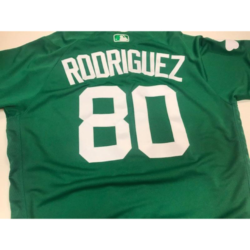 Photo of Game-Used St. Patrick's Day Jersey: Ronny Rodriguez