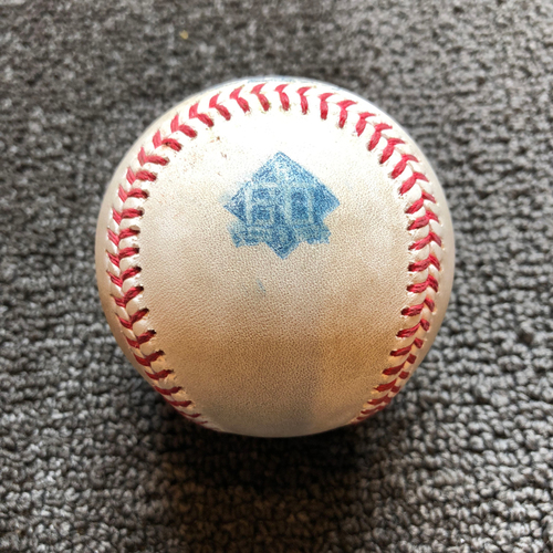 Photo of 2018 San Francisco Giants - Game-Used Ball - 60th Anniversary - Chase d'Arnaud Single to RF off of Sean Manaea on 7/15/18