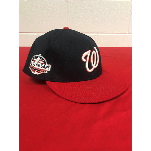 Photo of Ryan Zimmerman Game-Used 2018 Blue (Red Bill) Cap with All Star Game Patch