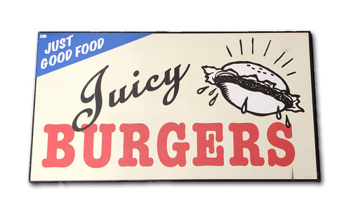 Photo of Wrigley Field Collection -- Concourse Sign - 'Juicy Burgers'