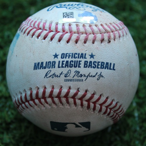 Photo of Game-Used Baseball: Daniel Robertson 133rd Career Hit (TB @ KC - 4/29/19)