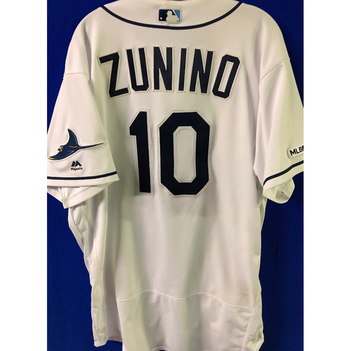 Photo of 2019 Opening Day Game Used Jersey: Mike Zunino - March 28 v HOU, April 2 v COL, April 17 v BAL