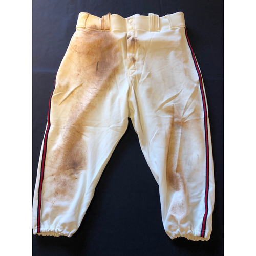 Joey Votto -- Game-Used 1935 Throwback Pants (Starting 1B) -- Rangers vs. Reds on June 15, 2019 -- Pants Size 35-42-20