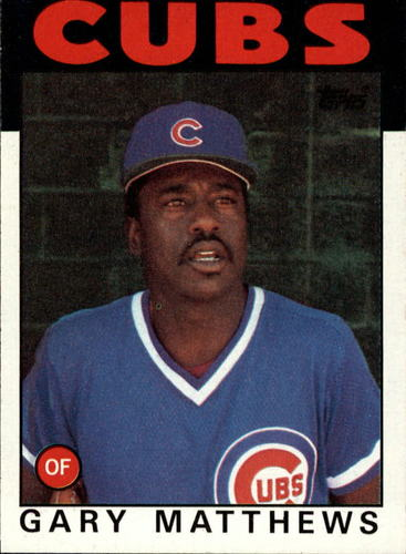 Photo of 1986 Topps #485 Gary Matthews