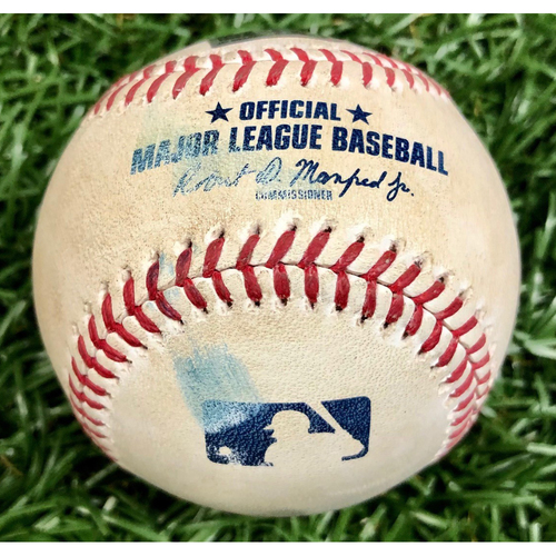 Photo of Game Used ALWC Game 1 Baseball: Alejandro Kirk foul ball off Nick Anderson - Alejandro Kirk First Career Postseason Game - September 29, 2020 v TOR