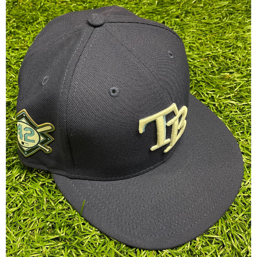 Photo of Game Used (3 Games) Jackie Robinson Day Cap: Chad Mottola #51 - August 28-30, 2020 at MIA
