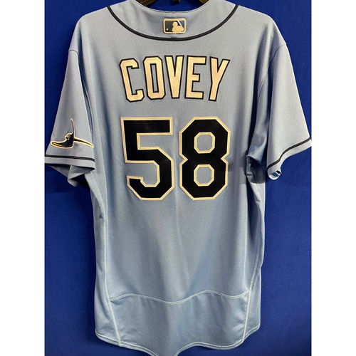 Photo of Game Used 2020 Spring Training Jersey: Dylan Covey - 1 Game - February 24 v BOS