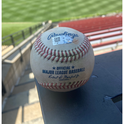 Photo of Cardinals Authentics: Game Used Baseball Pitched by Bailey Ober to Yadier Molina *Single*